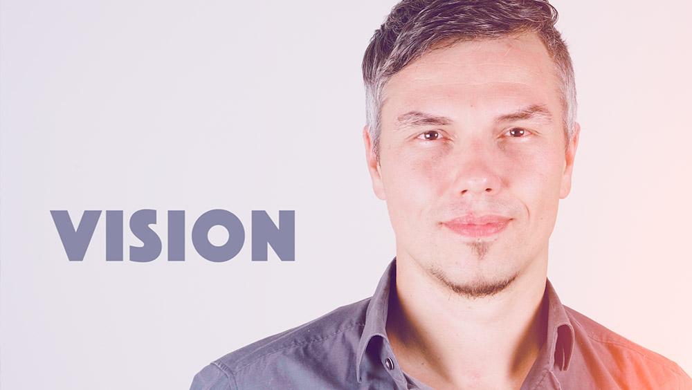 Ein Entwiockler von Virtual Reality im Porträt