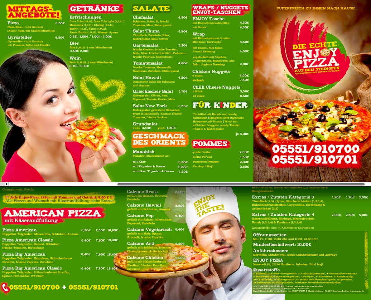 Logo Entwicklung Food Franchise Pizza Corporate Design Corporate Identity COGGY Kommunikationsagentur